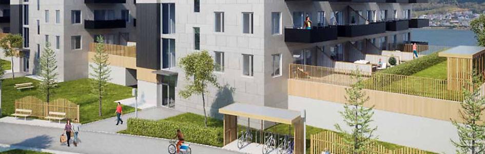 Fundamenterer for boligprosjekt Sjøsiden i Tromsø
