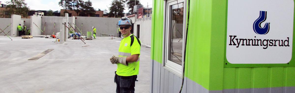 Mobil kontorcontainer effektiviserer byggeplassene