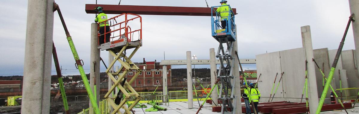 Ankers Hus på Verket monteres nå