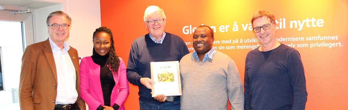 NSP Aid mottok en million kroner i gave for 2017 og 2018 - fra ansatte og selskapene i Kynningsrudgruppen
