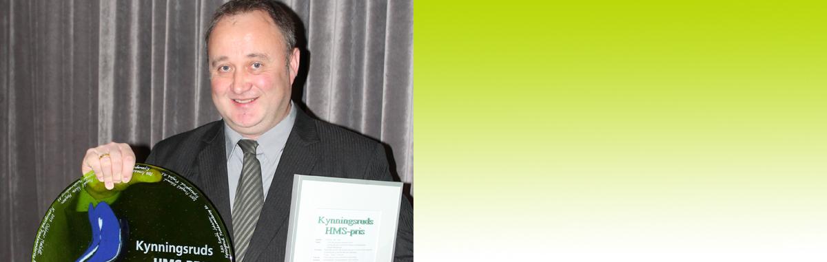 Fundamenterings Oddgeir Mølslett vant HMS-prisen 2017