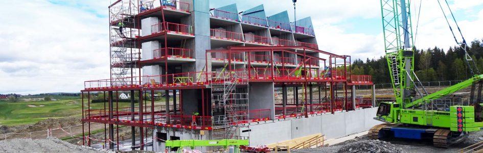 Leverer og monterer betong til Miklagard Hotell