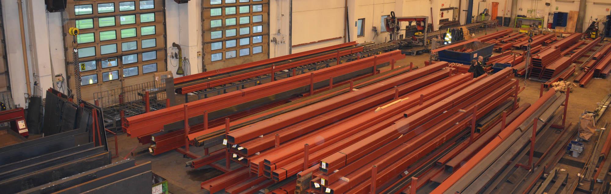Høyt aktivitetsnivå i Prefabs stålverksted
